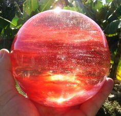 Massive Cherry Quartz Chakra Healing Sphere by BenitoArvizo, $139.00