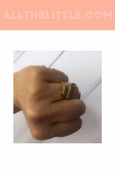 Looks absolutely stunning on, beautifully wraps around the finger. Fashion Rings, Fashion Jewelry, Dress Rings, Viper, Little Things, Absolutely Stunning, Jewelry Collection, Latest Fashion, Wraps