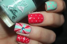 Cute Valentine's Mix ~ using Rimmel 'Angel Wing', 'Red Ginger' and 'Green Dragon' ~ by Coweless Polish Blog