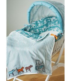 Buy your Joules On the Farm Moses Basket - Fitted Sheet included from Kiddicare Moses Baskets and Stands| Online baby shop | Nursery Equipment