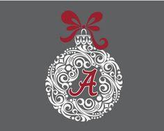 The Alabama Holiday Design Alabama Christmas Ornaments, Christmas Crafts, Christmas Ideas, Christmas Decorations, Xmas, Ornament Drawing, Vinyl Monogram, Vinyl Lettering, Lettering Ideas
