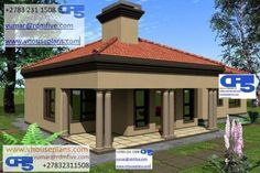 RDM5 House Plan No W1869 Bahay Kubo Design, House Plans South Africa, Flat Roof House, Bungalow House Design, Tuscan Design, Site Plans, Garage Plans, House Floor Plans, My Dream Home