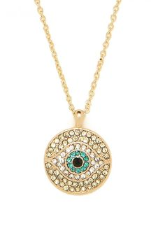 emerald evil eye necklace! great for layering...OMG i really really really want something like this!!!