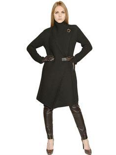 SALVATORE FERRAGAMO  TEXTURED WOOL KNIT COAT - http://lustfab.com/shop-lust/salvatore-ferragamo-textured-wool-knit-coat/