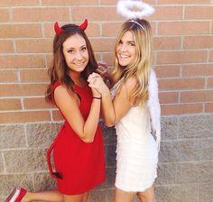 Angel and devil best friend diy easy costume