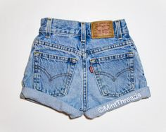ALL SIZES Vintage Mystery High Waisted Denim Shorts by MintThreads