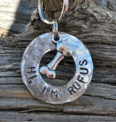 Dog Tag/Tags, Pet ID Tag, Dog Collar Tag, Cat Tag, Personalized, Pet Charm, Keychain, Hand Stamped .... Hi, I'm .... on Etsy, $11.00