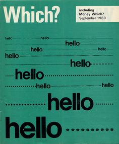 Which? Magazine September 1969