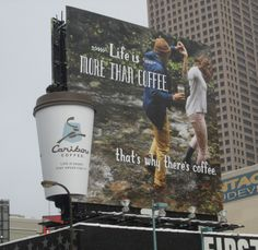 2014 OBIE Awards Finalist Creative Agency: Colle+McVoy Advertiser: Caribou Coffee Brand: Caribou Coffee Title of Work: Life Is More Than Coffee, That's Why There's Coffee. Creative Directors: Eric Husband, John Neerland Art Director: Emily Taylor Copywriter: Adam Ridgeway