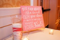 Clearwater Wedding Reception Guest, Beach Inspired Signage