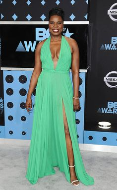 <p>The actress was golden in her metallic dress at the 2017 BET Awards at the Microsoft Theater in Los Angeles.</p>