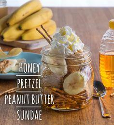 Honey Pretzel Peanut Butter Sundae