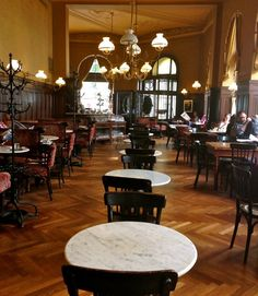 Cafe Sperl in Vienna. Europe's Literary Cafes.  Scene from 'Before Sunrise' filmed here. www.thisoffscriptlife.com #vienna