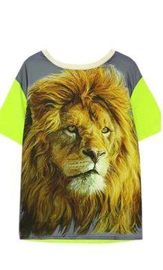Welcome to Spot Pop Fashion   Spot Pop Fashion Color Block Lion Print