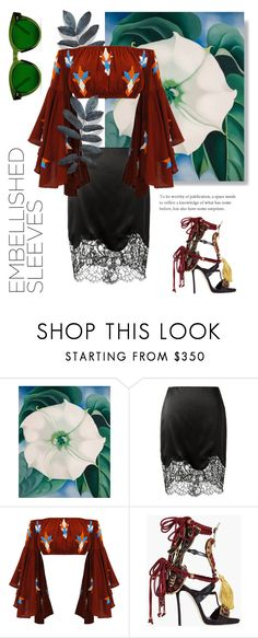 """Floral"" by cstarzforhome ❤ liked on Polyvore featuring O'Keeffe, Givenchy and Dsquared2"