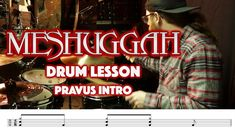 MESHUGGAH - Pravus INTRO - Drum Lesson