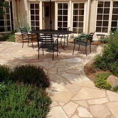 Top 40 Best Flagstone Walkway Ideas - Hardscape Path Designs - - Discover a centuries-old staple stone with the top 40 best flagstone walkway ideas. Explore unique hardscape path designs for your front and backyard. Outdoor Pavers, Flagstone Walkway, Pergola Patio, Pergola Kits, Pergola Ideas, Brick Walkway, Concrete Patio, Diy Patio, Stone Patio Designs