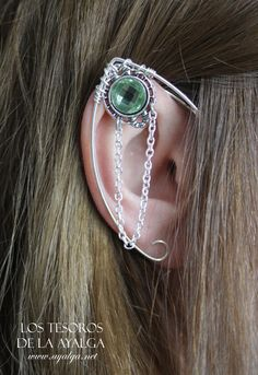 silvered elven ear   ear cuff  elvish earring  elf ear  by Ayalga, €7.00