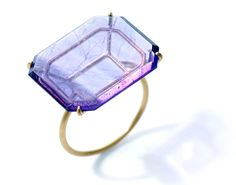Etsuko Sonobe Ring: Untitled, 2013 Amethyst, K20YG