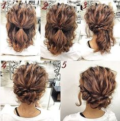 Easy Updos For Medium Hair, Prom Hairstyles For Short Hair, Up Hairstyles, Medium Hair Styles, Natural Hair Styles, Short Hair Styles, Hair Medium, Simple Homecoming Hairstyles, Medium Curls