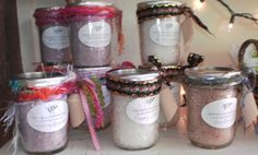 All Natural Bath Salts With Wooden Scoop 6 by PeaceLoveClothespins, $6.25