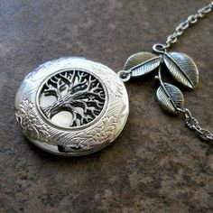 Tree of Life Locket, Newly Revised Exclusive Design by Enchanted Lockets. $25.00, via Etsy.