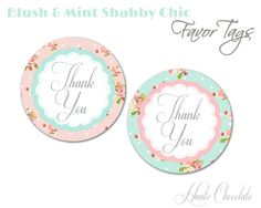 Shabby Chic Favor Tags