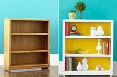Love these simple bookcase makeovers