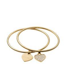 Heart Charm Bangle Set, Golden by Michael Kors at Neiman Marcus.