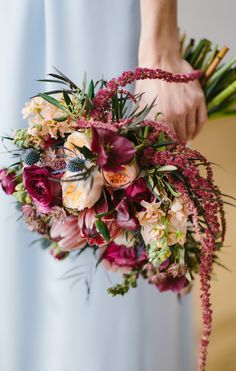 Gorgeous Marsala Wine Inspired Wedding Bouquet / flowers by Wallflower Designs / photo by Maggie Fortson Photography