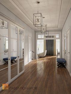 Фото: Холл - Интерьер загородного дома в стиле американской неоклассики, п. Токсово, 215 кв.м.