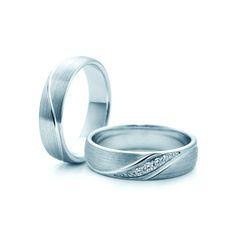 SAVICKI - Obrączki ślubne: Obrączki z białego złota (Nr 284) - Biżuteria od 1976 r.