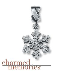 $59.99 Charmed Memories® Snowflake Dangle Charm Sterling Silver Kay.com Perfect for my first snow!!