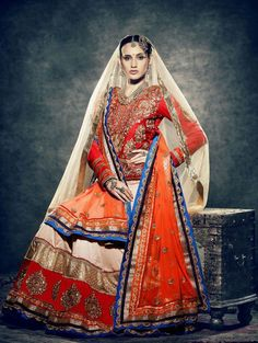 Cream Velvet Lehenga Choli with Resham and Zari Work