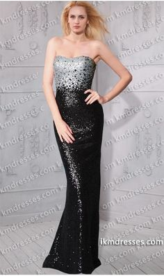 Make them stare in this sumptuous evening dress ! this dress is just gorgeous and perfect for prom, pageants, homecomings, and more!   Style:     KM-87207 Dress style: Evening dress Slit: No Sleeves: Sleeveless Neckline: Slightly Sweetheart  Color Available in Blackilver Special offer:customize your dress for free