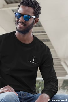 Brotherhood of Believers Christian Clothing, Christian Shirts, Christian Apparel, Biker T Shirts, 1 Peter, Mens Tees, Christianity, Street Wear, Greek