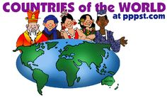 Countries of the World - Presentations in PowerPoint format, Free Interactives and Games