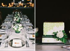 dinner by candlelight and a cake to match the invitations