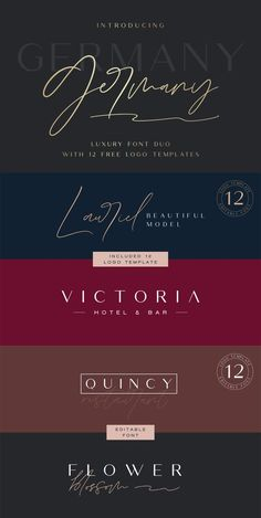 Germany Luxury Script Font offers beautiful typographic harmony for a diversity of design projects, including logos & branding, wedding designs, social media posts, advertisements & product designs.