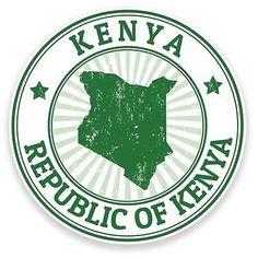 2 x Kenya Vinyl Sticker Decal Laptop Travel Luggage Car Bike Label Kenya Travel, Africa Travel, Kenya Africa, East Africa, Art With Meaning, Grunge, Passport Stamps, Luggage Labels, Travel Party