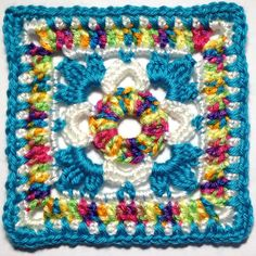 "I AM...CRAFTY!: Hooked on Granny Squares - Free ( 365 ) ""CLICK"" designer's name for the pattern."