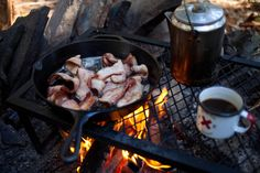 Campfire + bacon + best made cups