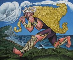 Jason and the Golden Fleece, acrylic painting by David Brooke