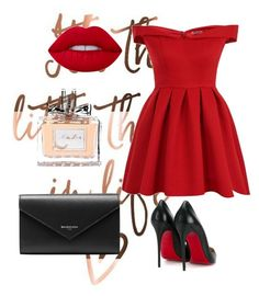 """""""/Red is always a good idea/"""" by merima-699 ❤ liked on Polyvore featuring Chi Chi, Christian Louboutin, Balenciaga and Christian Dior"""