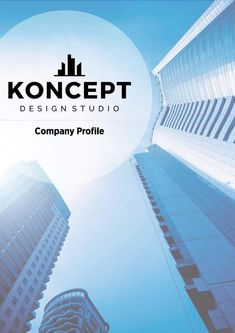 Koncept Design Studio Company Profile Template Brochure, Design Poster, Company Profile, Identity, Interior Design Studio, Graphic, Branding, Interior Architecture, Skyscraper