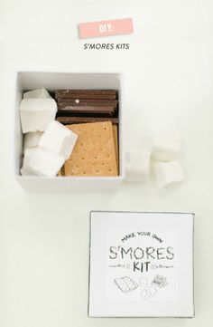 food + drink | diy s'mores kits for your guests | via: style me pretty