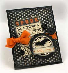 A Totally Creepy (and a Bit Scrappy) Halloween Card...