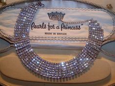 VINTAGE SIGNED JEWELLERY SPARKLING RHINESTONE ART DECO STEPPED CHOKER NECKLACE #MS