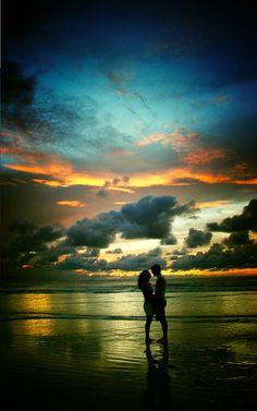 sunset beach date