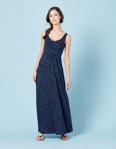 Blues Painted Paisley Jersey Maxi Dress Boden